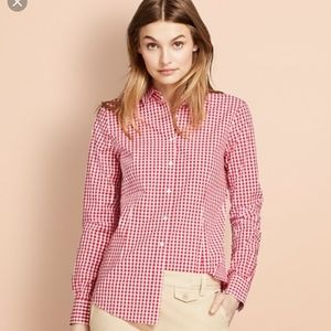 Brooks Brothers 346 red gingham button down shirt